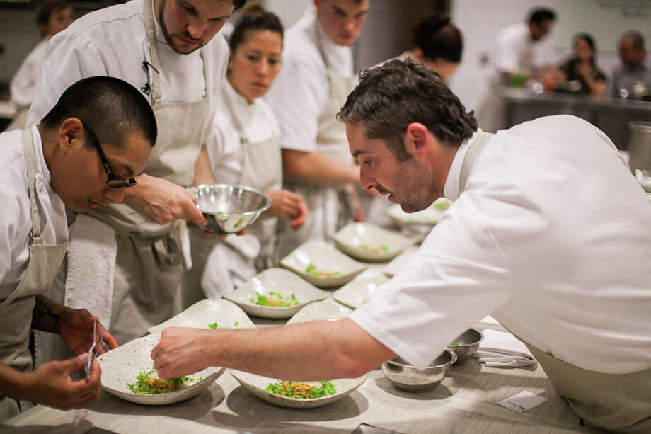 Chef John B Shields plating. (Creel Films)
