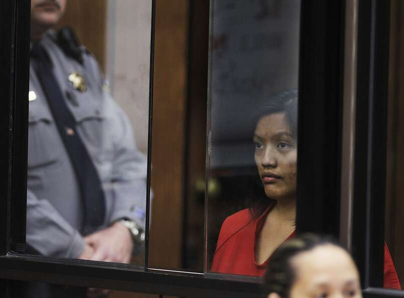 Giselle Esteban appears in a Hayward, Calif., courtroom during her arraignment, Friday, Sept. 9, 201