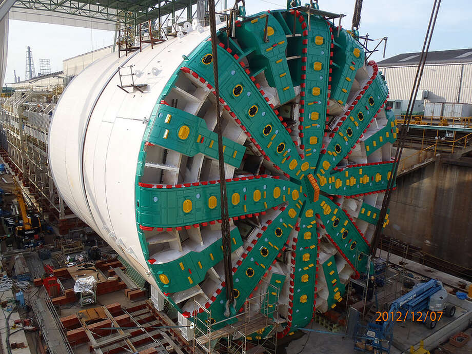 After months of anticipation, the SR 99 tunnel boring machine nears completion. With the cutterhead installed, crews prepare for final rounds of testing before the machine is disassembled and shipped to Seattle. Photo: Washington State Department Of Transportation