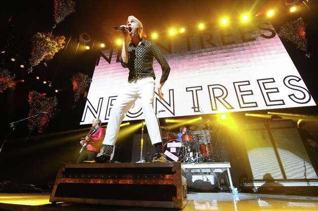 Neon Trees performs at KROQ Almost Acoustic Christmas on Sunday, Dec. 9, 2012, in Los Angeles. (Katy Winn/Invision/AP) Photo: Katy Winn, Associated Press / Invision