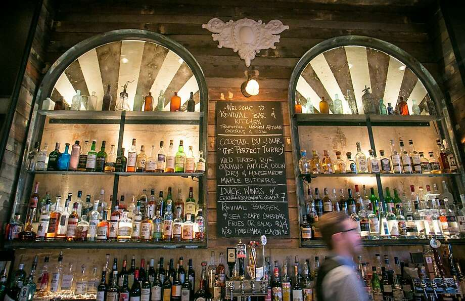 The bar at the Revival Bar & Kitchen in Berkeley. Photo: John Storey, Special To The Chronicle