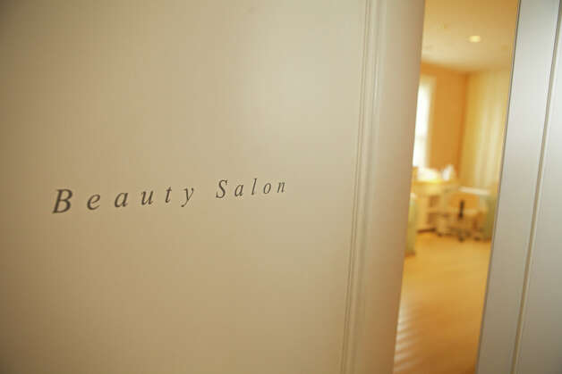"""Salon Services"" are available in the Beauty Salon, from Manicure/Pedicure to hair cuts, shampoo & style.  The Mayflower Inn & Spa is located at: 118 Woodbury Road Route 47 Washington, CT 06793  Telephone: 860-868-9466 www.mayflowerinn.com Photo: Trish Haldin / The News-Times Freelance"