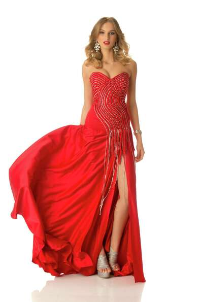 Miss Georgia 2012, Tamar Shedania, poses in her evening gown.