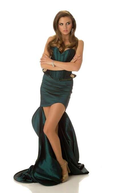 Miss Montenegro 2012, Andrea Radonjić, poses in her evening gown. Photo: Matt Brown, Miss Universe Organization / Miss Universe Organization