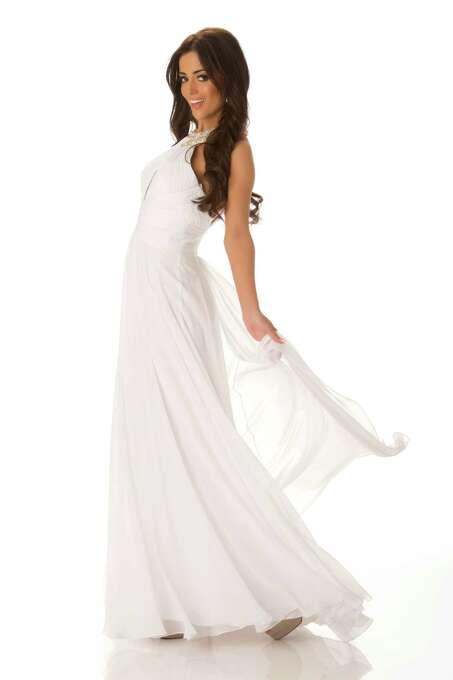 Miss New Zealand 2012, Talia Bennett, poses in her evening gown. Photo: Matt Brown, Miss Universe Organization / Miss Universe Organization