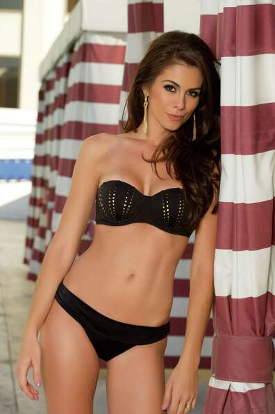 Miss Brazil 2012, Gabriela Markus, poses for photos in swimwear by Kooey Australia.