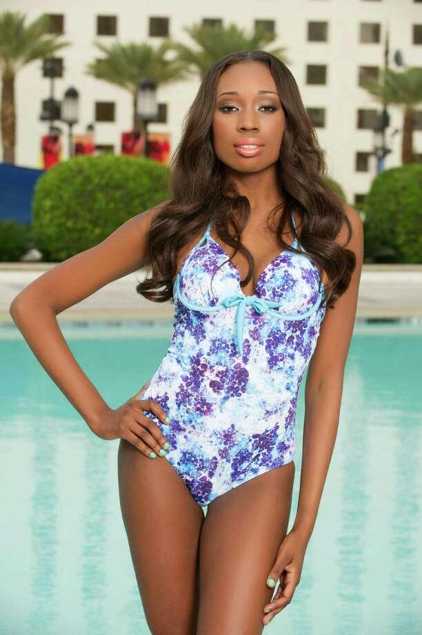 Miss British Virgin Islands 2012, Abigail Hyndman, poses for photos in swimwear by Kooey Australia. Photo: Darren Decker, Miss Universe Organization / Miss Universe Organization