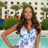 Miss British Virgin Islands 2012, Abigail Hyndman, poses for photos in swimwear by Kooey Australia.