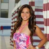 Miss Guam 2012, Alyssa Cruz Aguero, poses for photos in swimwear by Kooey Australia.