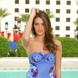 Miss Serbia 2012, Branislava Mandić, poses for photos in swimwear by Kooey Australia.