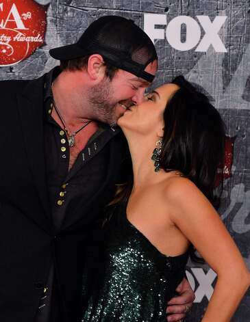 (L-R) Singer Lee Brice and Sara Reevely arrive. Photo: Frazer Harrison, Getty Images / 2012 Getty Images