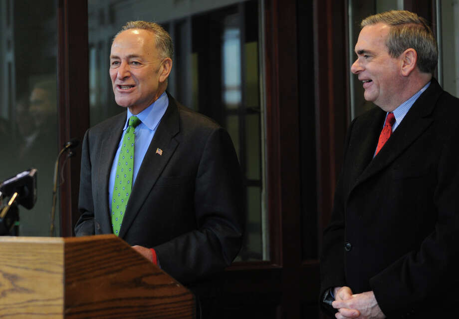U.S. Sen. Chuck Schumer, left, and Schenectady Mayor Gary McCarthy are shown at an event on Monday Dec. 10, 2012 in Schenectady, N.Y.   (Lori Van Buren / Times Union archive) Photo: Lori Van Buren
