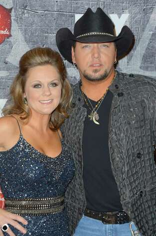 Singer Jason Aldean (R) and Jessica Aldean arrive. Photo: Frazer Harrison, Getty Images / 2012 Getty Images