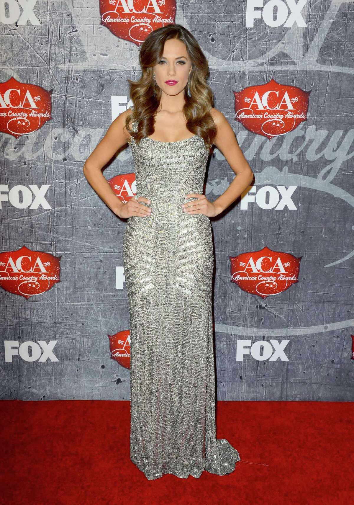 Singer Jana Kramer arrives at the 2012 American Country Awards at the Mandalay Bay Events Center in Las Vegas on Dec. 10, 2012. The ACA is the fourth major country music awards show of the year and the youngest; this Fox TV creation began in 2010.