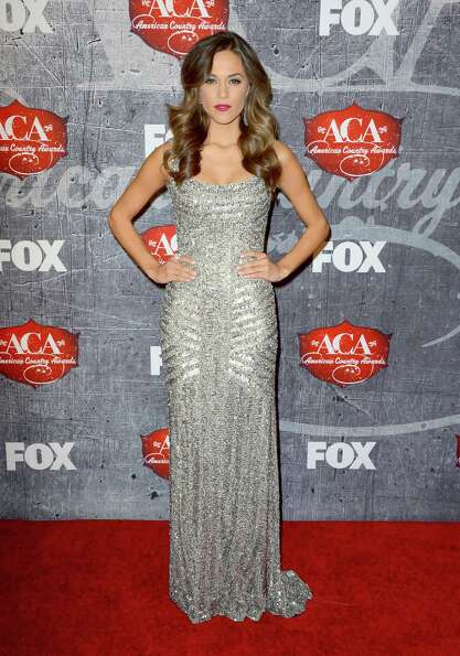Singer Jana Kramer arrives at the 2012 American Country Awards at the Mandalay Bay Events Center in