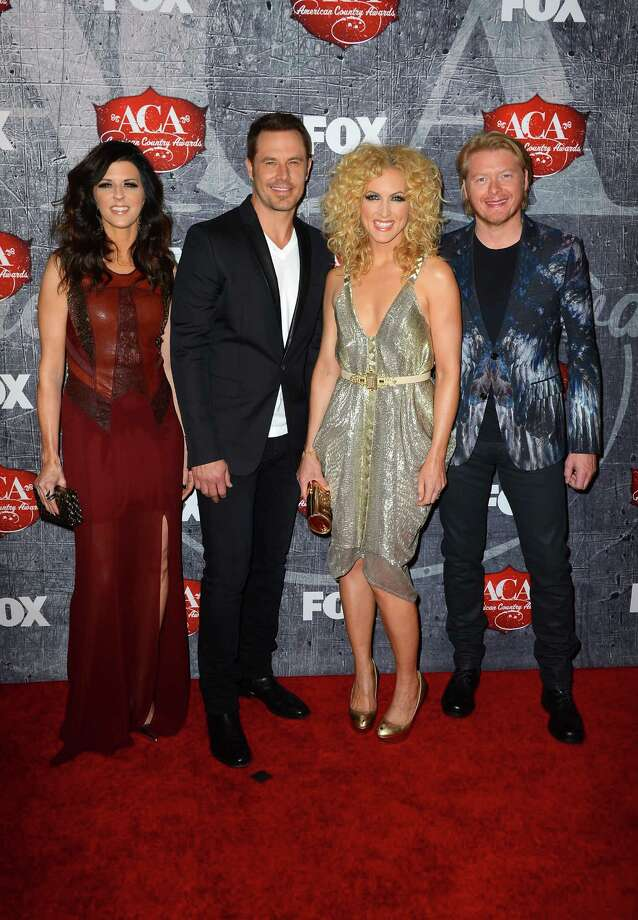 (L-R) Karen Fairchild, Jimi Westbrook, Kimberly Roads Schlapman and Phillip Sweet of Little Big Town arrive. Photo: Frazer Harrison, Getty Images / 2012 Getty Images