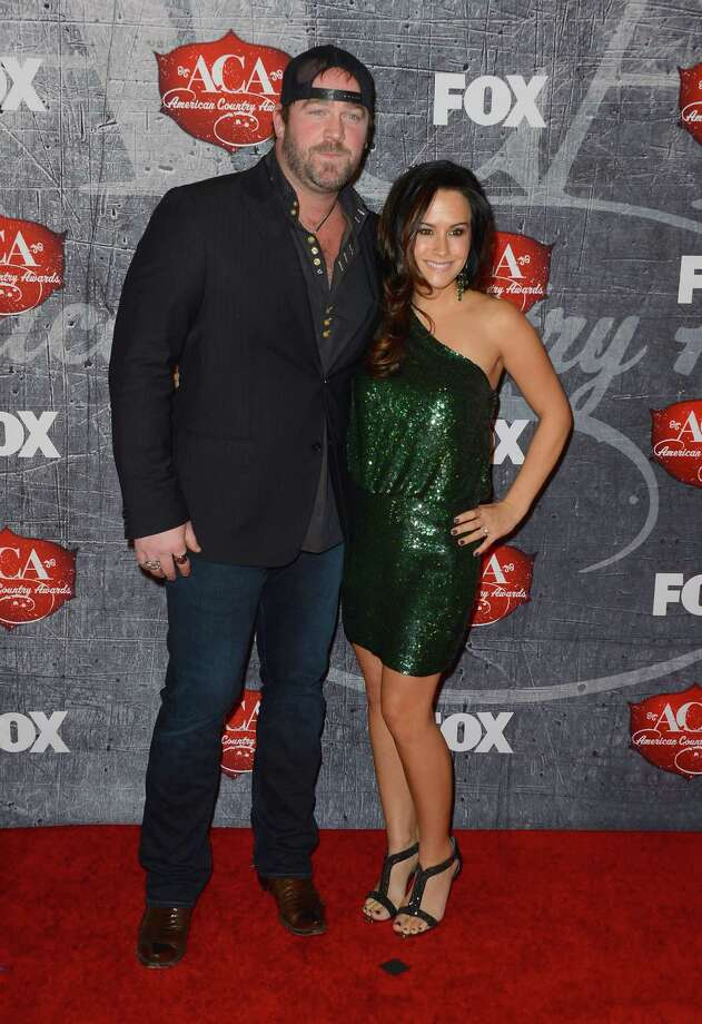 Singer Lee Brice (L) and his fiancee Sarah Reevely arrive. Photo: Frazer Harrison, Getty Images / 2012 Getty Images