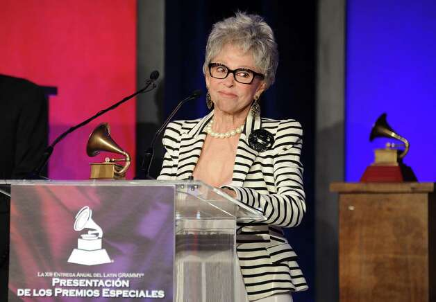 Rita Moreno accepts her award at the 2012 Latin Recording Academy Lifetime Achievement Awards at The Four Seasons Hotel on Wednesday, Nov. 14, 2012, in Las Vegas. (Photo by Powers Imagery/Invision/AP) Photo: Powers Imagery / Invision