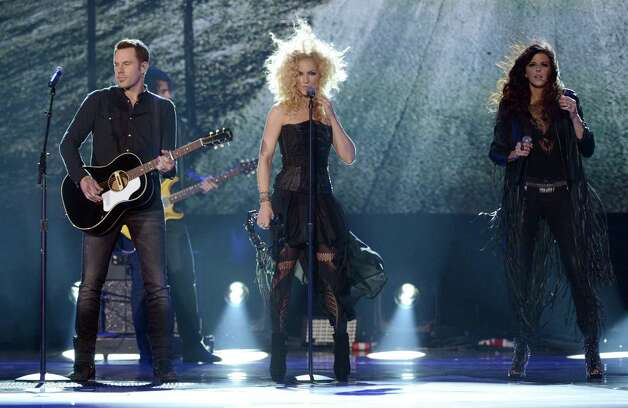 Jimi Westbrook, Kimberly Schlapman, and Karen Fairchild of Little Big Town perform onstage. Photo: Mark Davis, Getty Images / 2012 Getty Images