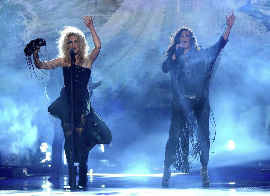 Kimberly Schlapman and Karen Fairchild of Little Big Town perform onstage. Photo: Mark Davis, Getty Images / 2012 Getty Images
