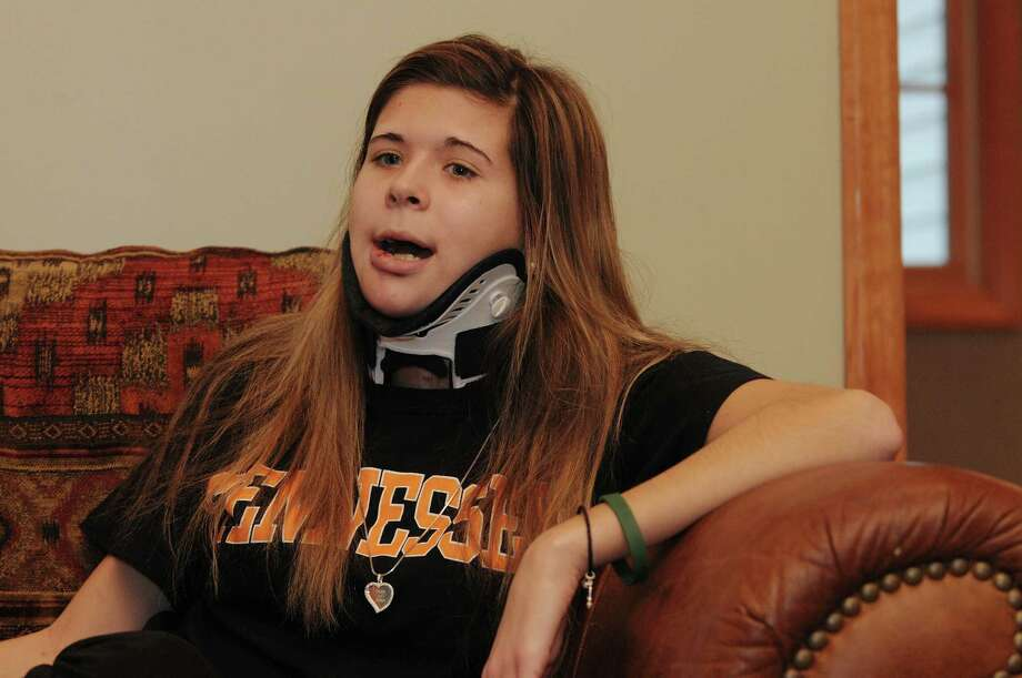 Bailey Wind talks about the accident, during an interview at her home on Monday, Dec. 10, 2012 in Latham, N.Y.   (Paul Buckowski / Times Union) Photo: Paul Buckowski