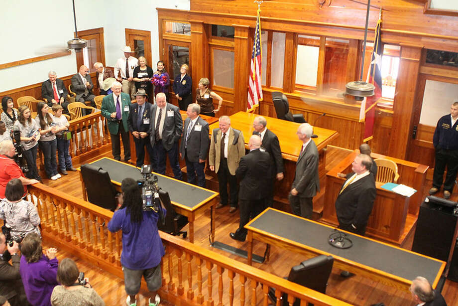 The re-opening of the Newton County courthouse. Photo: Sherry Tracy