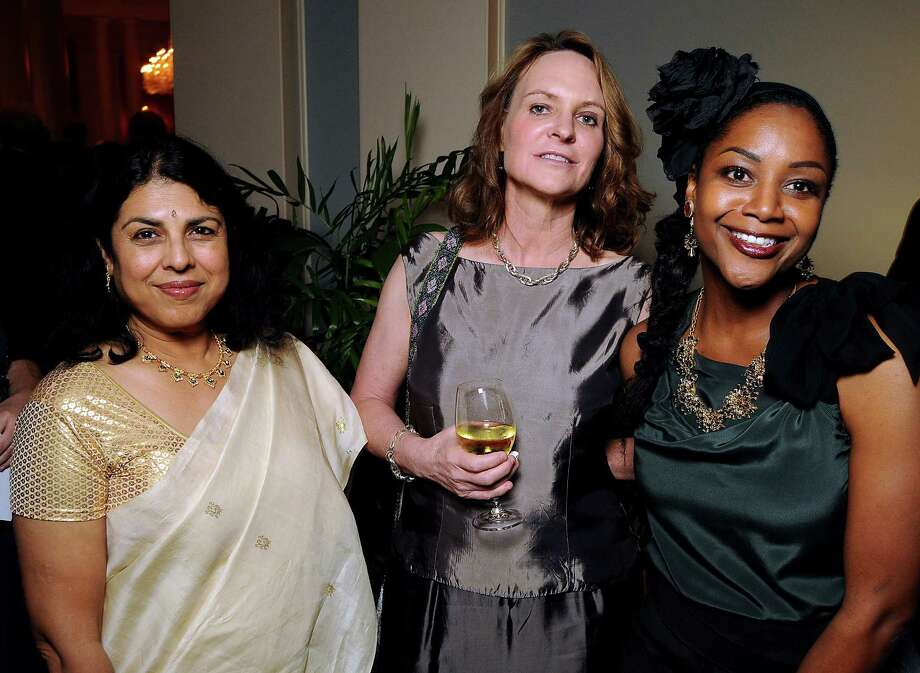 Chitra Divakaruni, Antoyna Nelson and ZZ Packer at the Imprint Poets & Writers Ball at the Houston Country Club  Feb 18. Photo: Dave Rossman, For The Chronicle / © 2012 Dave Rossman