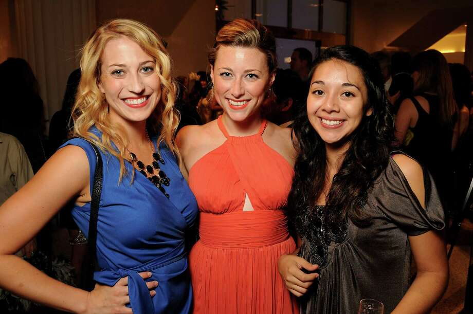 Sarah Miller, Evan Wetmore and Sarah Tao met up at the Houston Fresh Faces event at Tootsie's on Aug. 29. The event honored 10 Fresh Faces of Fashion. Photo: Dave Rossman, For The Houston Chronicle / © 2012 Dave Rossman