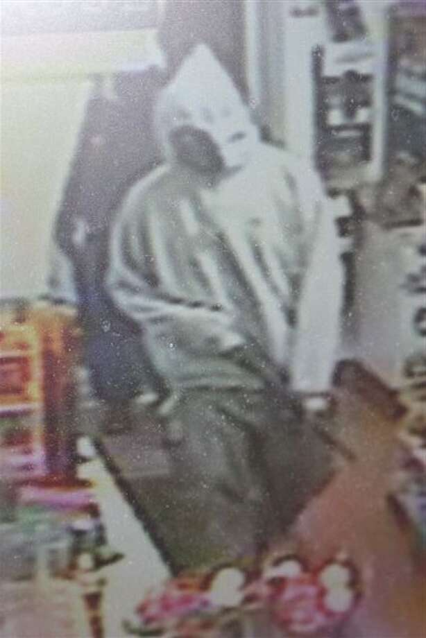 Police released this surveillance image of an armed robbery Monday night in Colonie. (Colonie Police Department)