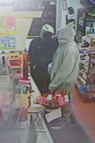 Police released this surveillance image of an armed robbery in Colonie Monday night. (Colonie Police Department)
