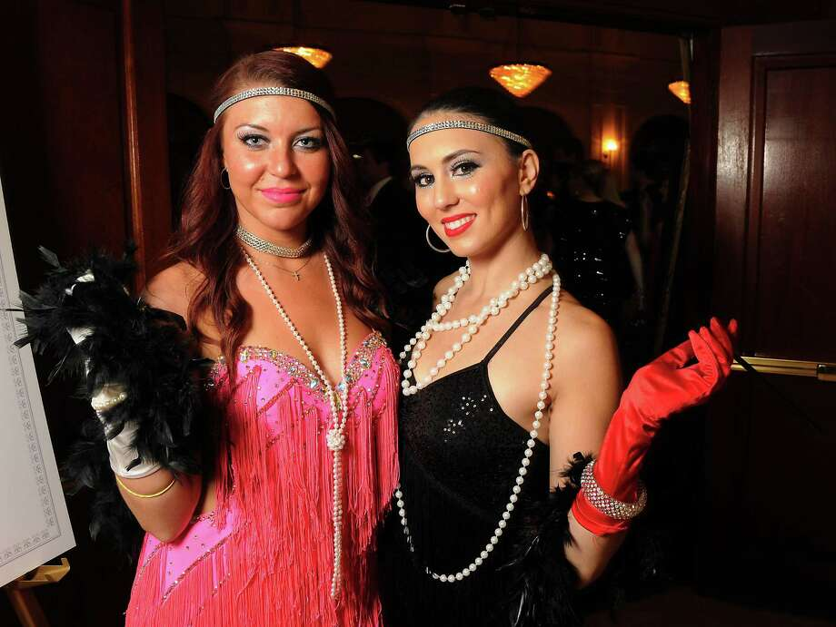 Nicole Comer and Jessica Blanco at the Bo's Place casino night fundraiser at the Crystal Ballroom at the Rice Hotel on Thursday Oct. 25. Photo: Dave Rossman, For The Houston Chronicle / © 2012 Dave Rossman