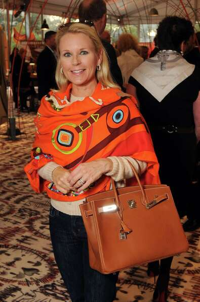 Mindy Hildebrand shows off her Birkin at the Festival des Métiers