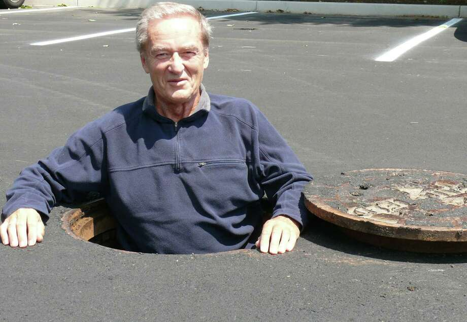 One Rod Highway, the road that leads to Fairfield Public Works Department headquarters, will be renamed Richard White Way, in honor of the recently retired DPW director, above. Photo: Genevieve Reilly / Fairfield Citizen