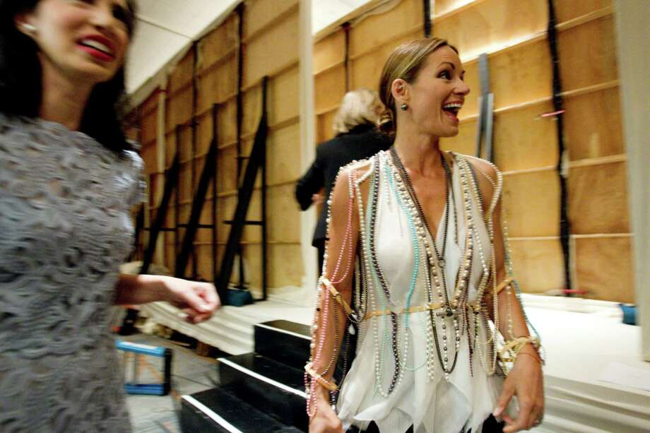 Lucinda Loya laughs backstage during the 30th annual Houston Chronicle Best Dressed Luncheon on March 28 at the Westin Galleria Hotel. Photo: Brett Coomer, Houston Chronicle / © 2012 Houston Chronicle