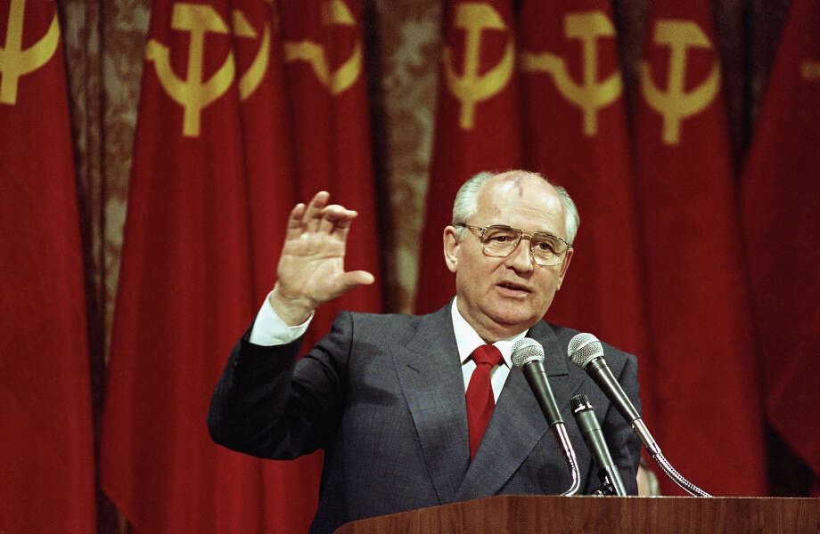 1988: Soviet President Mikhail Gorbachev Photo: Associated Press