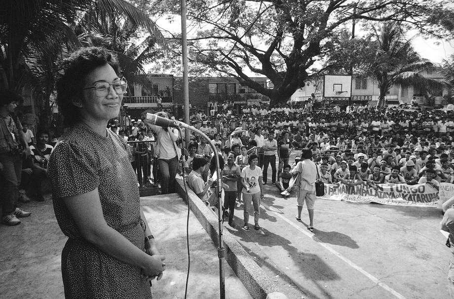 1987: Corazon Aquino, president of the Philippines Photo: Andy Hernandez, Associated Press / AP1984
