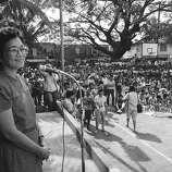 1987: Corazon Aquino, president of the Philippines