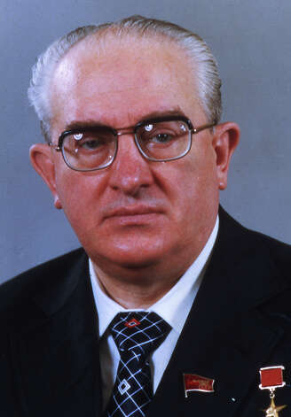 1984: General Secretary of the Soviet Communist Party, Yuri Andropov Photo: Associated Press