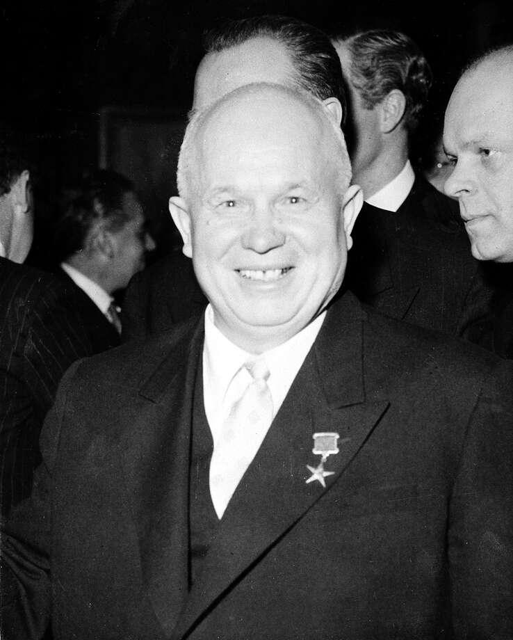 1957: Nikita Khrushchev Photo: Associated Press / AP1956