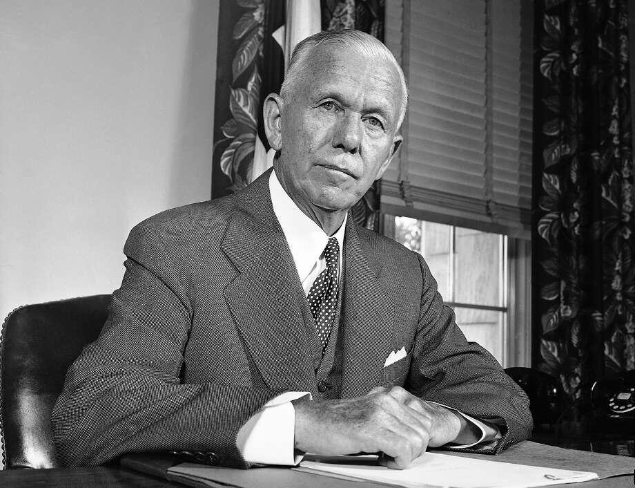 1943: Gen. George C. Marshall Photo: Associated Press
