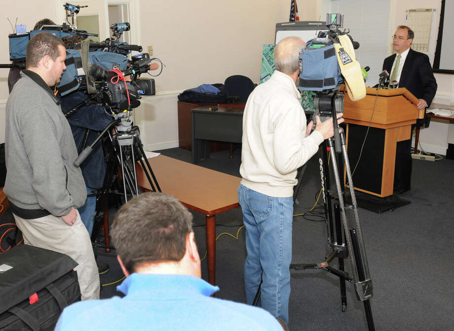 Schenectady DA Robert Carney speaks about the details of a shooting in 2011 during a press conference at Schenectady County Courthouse on Tuesday Dec. 11, 2012 in Schenectady, N.Y.  Carney announced that a grand jury has cleared 3 Schenectady police officers who fired 14 shots at an armed Luis Rivera in August of 2011.(Lori Van Buren / Times Union) Photo: Lori Van Buren