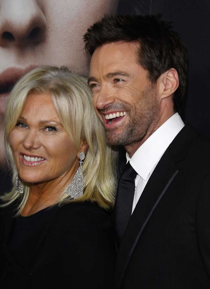 Deborra-Lee Furness and Hugh Jackman attend the Les Miserables New York premiere at Ziegfeld Theater on December 10, 2012 in New York City.  (Photo by Larry Busacca/Getty Images) Photo: Larry Busacca, Getty Images / 2012 Getty Images