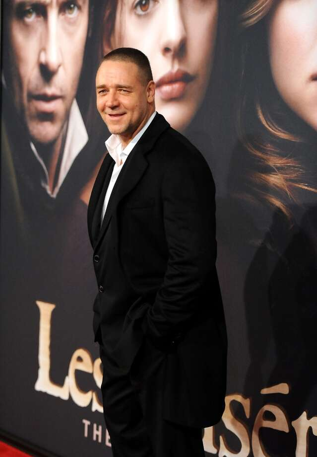 Actor Russell Crowe attends the premiere for Les Miserables at the Ziegfeld Theatre on Monday Dec. 10, 2012 in New York. (Photo by Evan Agostini/Invision/AP) Photo: Evan Agostini, Associated Press / Invision