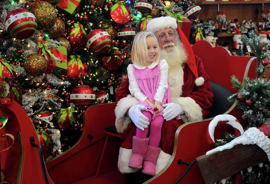 You better watch out: Santa Claus is in town and appearing at locations across the region this Christmas. Photo: Lindsay Niegelberg / Stamford Advocate