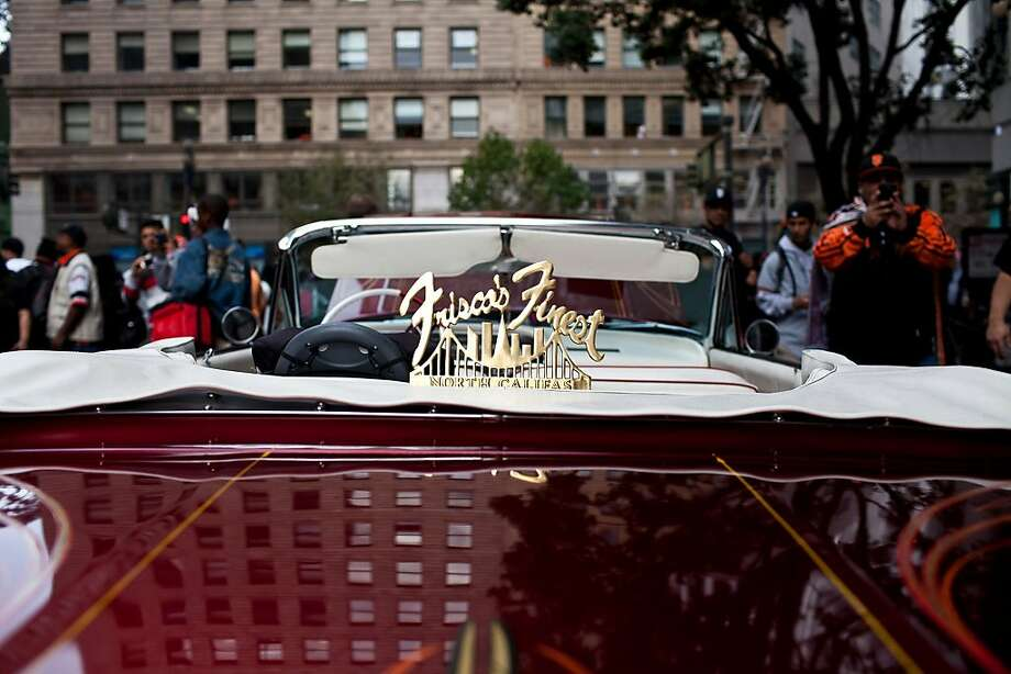 A Frisco's Finest lowrider before the Giants World Series Championship parade in San Francisco, Calif., Wednesday, October 31, 2012. Photo: Jason Henry, Special To The Chronicle