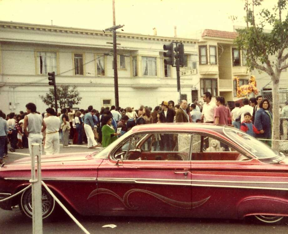 "Lowriders like this cruised the Mission during the 1970s and 1980s, before being outlawed during the Feinstein mayoral administration. Images from ""Why I Ride"": From Low to Show."" Photo: Cymc, Chronicle Archives"