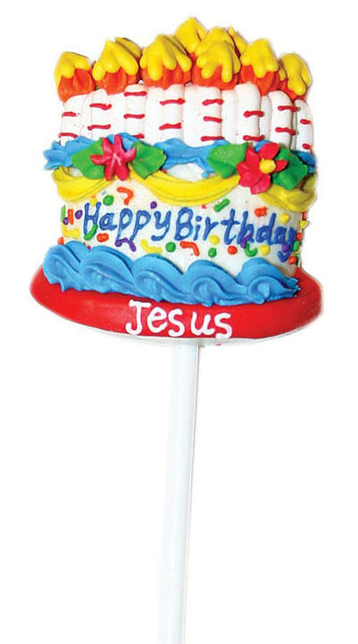 Happy Birthday Jesus Lollipop. This large peppermint-flavored Happy Birthday Jesus pop is handmade. Slip it into your kids' stockings as a reminder of the true meaning of Christmas. $1.99. CatholicSupply.com.
