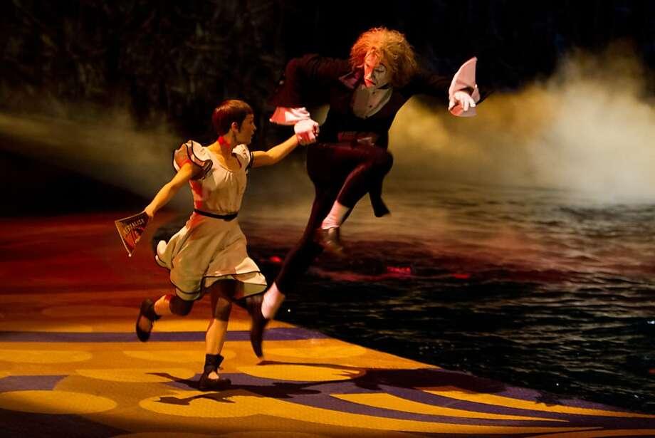 "Erica Linz and Benedikt Negro star in ""Cirque du Soleil: Worlds Away,"" opening Friday. Photo: Mark Fellman, Paramount Pictures"