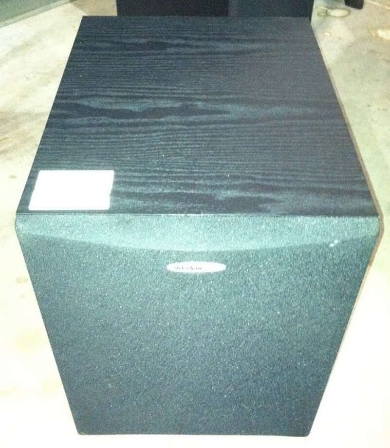 This Velodyne DLS speaker is being auctioned by the U.S. Marshals Office. Photo: Picasa, .