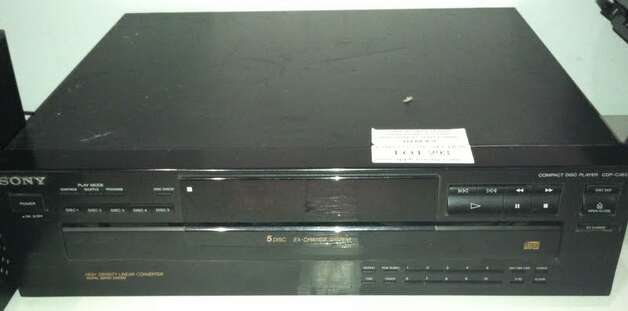 This Sony 5-disc exchange system is being auctioned by the U.S. Marshals Office. Photo: Picasa, .